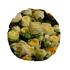 Yellow Roses Standard 15  Premium Round Cushions by Sparkle