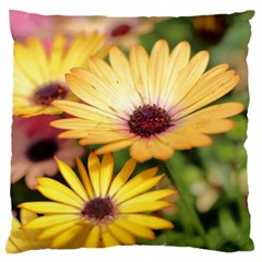 Yellow Flowers Standard Flano Cushion Case (one Side) by Sparkle