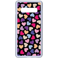 Colorful Love Samsung Galaxy S10 Plus Seamless Case(white) by Sparkle