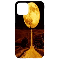Moon Road Iphone 11 Pro Black Uv Print Case by Sparkle
