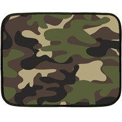 Ttexture Military Camouflage Repeats Seamless Army Green Hunting Fleece Blanket (mini)