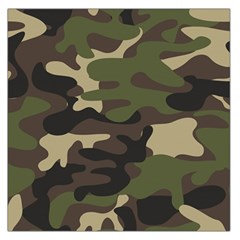 Ttexture Military Camouflage Repeats Seamless Army Green Hunting Large Satin Scarf (square)