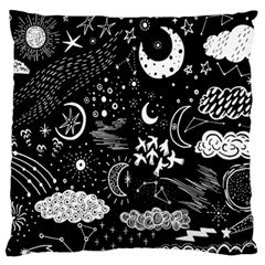 Vector Set Sketch Drawn With Space Standard Flano Cushion Case (one Side) by Bejoart