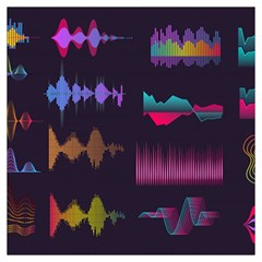 Colorful Sound Wave Set Long Sheer Chiffon Scarf