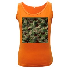 Abstract Vector Military Camouflage Background Women s Dark Tank Top by Bejoart