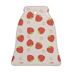 Strawberries Pattern Design Bell Ornament (two Sides) by Bejoart
