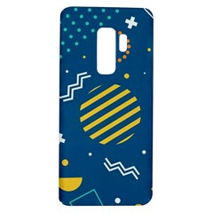 Flat Design Geometric Shapes Background Samsung Galaxy S9 Plus Tpu Uv Case by Bejoart