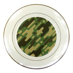 Camouflage Pattern Background Porcelain Plates