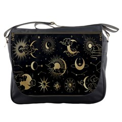 Asian Set With Clouds Moon Sun Stars Vector Collection Oriental Chinese Japanese Korean Style Messenger Bag by Bejoart