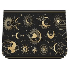 Asian Set With Clouds Moon Sun Stars Vector Collection Oriental Chinese Japanese Korean Style Buckle Messenger Bag by Bejoart