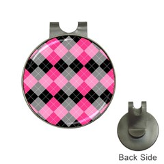 Seamless Argyle Pattern Hat Clips With Golf Markers by Bejoart