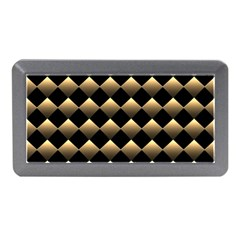 Golden Chess Board Background Memory Card Reader (mini) by Bejoart