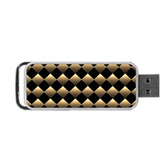 Golden Chess Board Background Portable Usb Flash (two Sides)