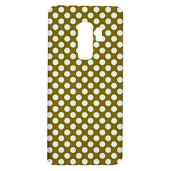 Gold Polka Dots Patterm, Retro Style Dotted Pattern, Classic White Circles Samsung Galaxy S9 Plus Tpu Uv Case