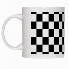 Black And White Chessboard Pattern, Classic, Tiled, Chess Like Theme White Mugs
