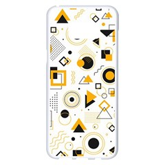 Flat Geometric Shapes Background Samsung Galaxy S8 Plus White Seamless Case