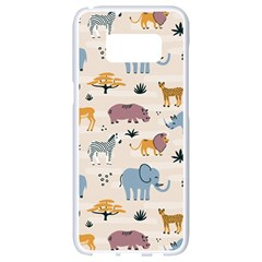Wild Animals Seamless Pattern Samsung Galaxy S8 White Seamless Case