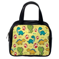 Seamless Pattern With Cute Dinosaurs Character Classic Handbag (one Side) by Bejoart