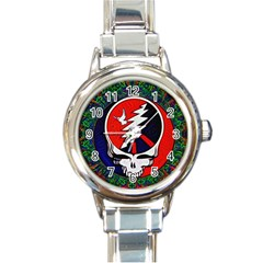 Grateful Dead - Round Italian Charm Watch by Sapixe