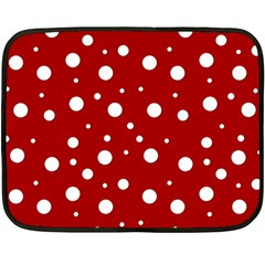Mushroom Pattern, Red And White Dots, Circles Theme Double Sided Fleece Blanket (mini)