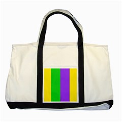 New Orleans Carnival Colors Mardi Gras Two Tone Tote Bag
