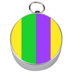 New Orleans Carnival Colors Mardi Gras Silver Compasses by yoursparklingshop