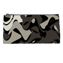 Trippy Sepia Paint Splash, Brown, Army Style Camo, Dotted Abstract Pattern Pencil Case by Casemiro
