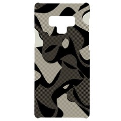 Trippy Sepia Paint Splash, Brown, Army Style Camo, Dotted Abstract Pattern Samsung Note 9 Black Uv Print Case