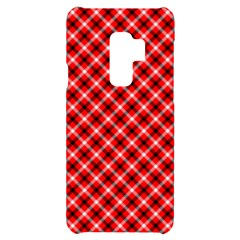 Three Color Tartan, Red Grey, Black Buffalo Plaid Theme Samsung S9 Plus Black Uv Print Case