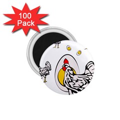 Roseanne Chicken 1 75  Magnets (100 Pack)  by EvgeniaEsenina
