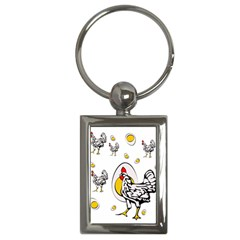 Roseanne Chicken Key Chain (rectangle) by EvgeniaEsenina