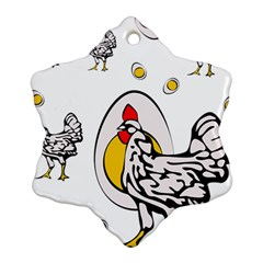Roseanne Chicken Ornament (snowflake) by EvgeniaEsenina