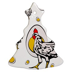 Roseanne Chicken Ornament (christmas Tree)  by EvgeniaEsenina