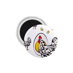 Roseanne Chicken, Retro Chickens 1 75  Magnets