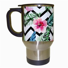 Tropical Zig Zag Pattern Travel Mugs (white)