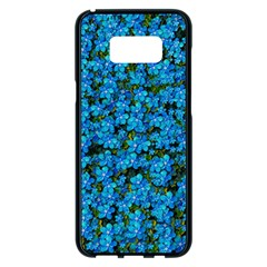 Blue Sakura Forest  Tree So Meditative And Calm Samsung Galaxy S8 Plus Black Seamless Case by pepitasart