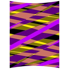 Abstract Geometric Blocks, Yellow, Orange, Purple Triangles, Modern Design Back Support Cushion by Casemiro