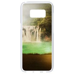 Background-image-waterfall-jungle Samsung Galaxy S8 White Seamless Case