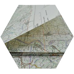 Map-navigation-orientation-drawing-geography Wooden Puzzle Hexagon
