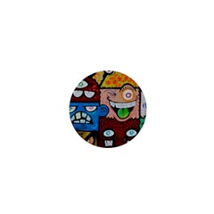 Photography Multicolored Monster Painting 1  Mini Buttons