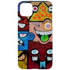 Photography Multicolored Monster Painting Iphone 11 Pro Max Black Uv Print Case by Bejoart