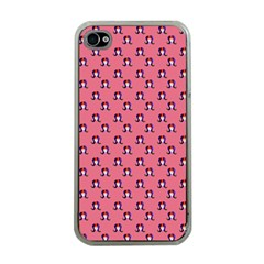 60s Ombre Hair Girl Pink Iphone 4 Case (clear) by snowwhitegirl