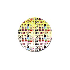 Kawaii Collage Yellow  Ombre Golf Ball Marker (4 Pack)