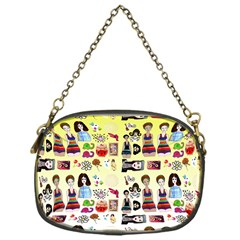 Kawaii Collage Yellow  Ombre Chain Purse (one Side) by snowwhitegirl