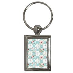Floral Work Key Chain (rectangle)