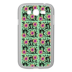 60s Girl Floral Green Samsung Galaxy Grand Duos I9082 Case (white)