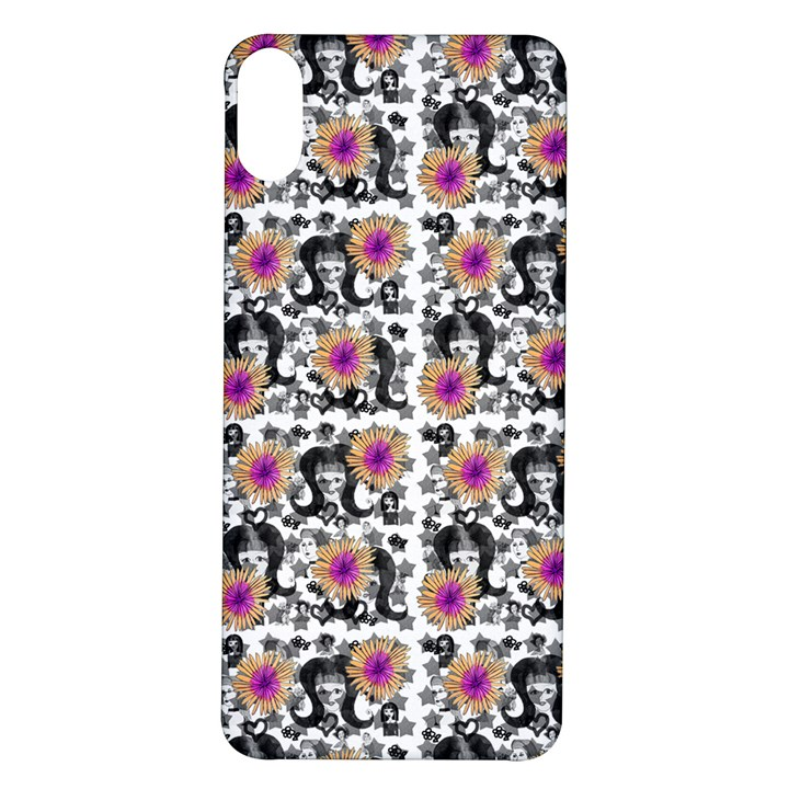 60s Girl Floral White iPhone X/XS Soft Bumper UV Case