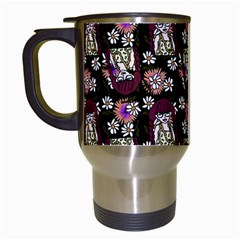 Braids Doll Daisies Black Travel Mugs (white) by snowwhitegirl