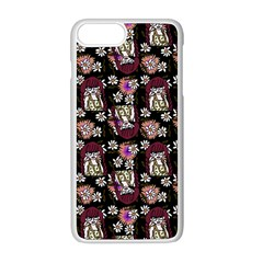 Braids Doll Daisies Black Iphone 8 Plus Seamless Case (white) by snowwhitegirl