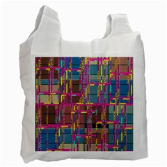 Colorful Shapes Texture                                                   Recycle Bag